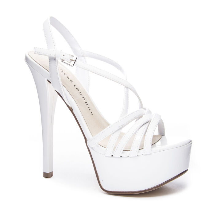 Chinese Laundry Teaser Sandals in White