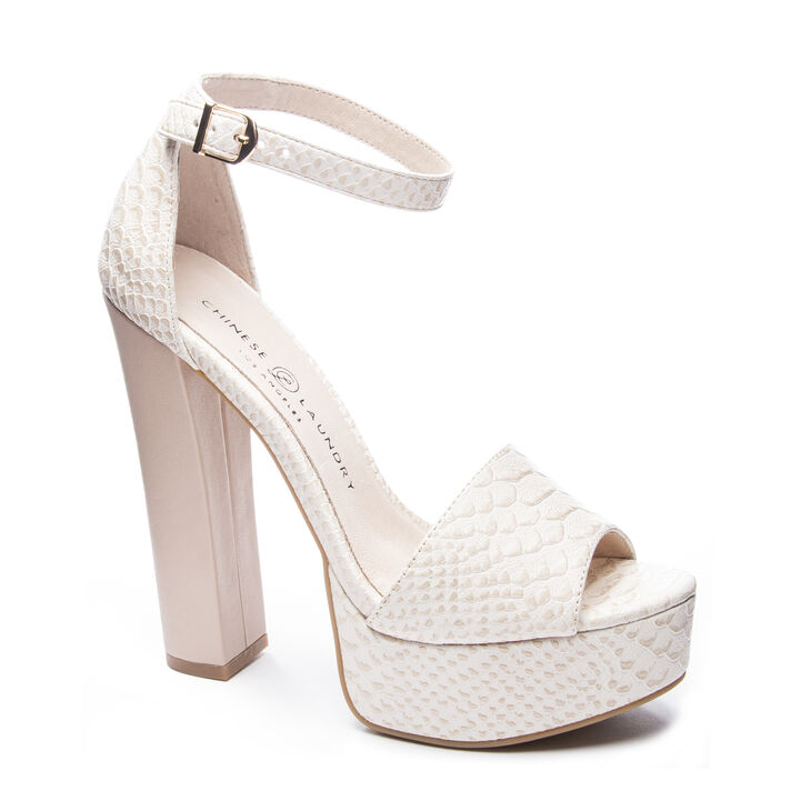 Chinese Laundry Avenue T-Strap Sandals in Beige