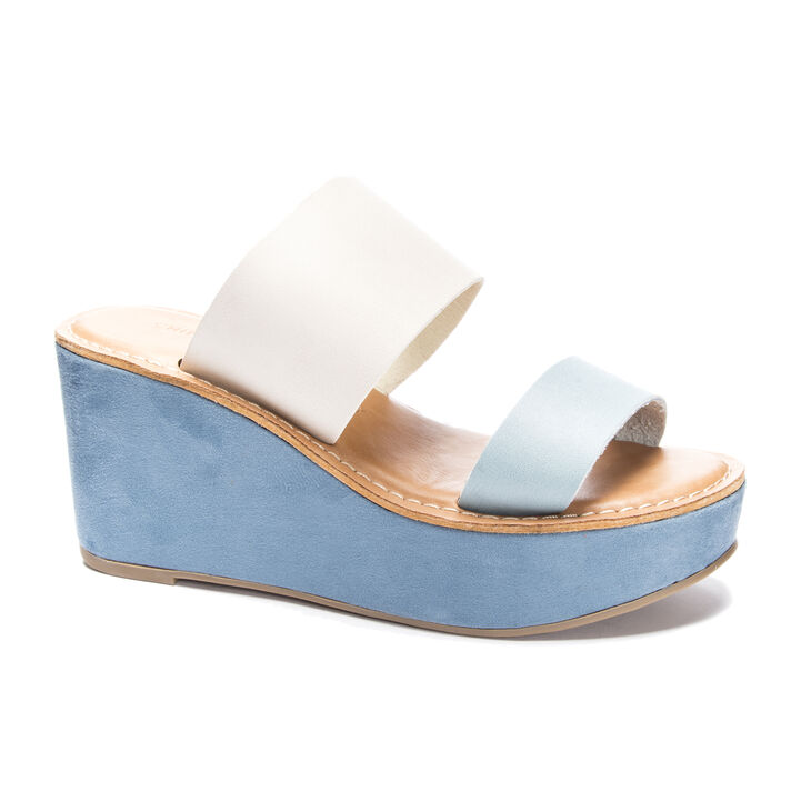 Chinese Laundry Ollie 2 Slide Heels in Blueivory