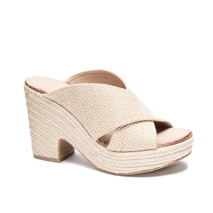 Chinese Laundry Quay Slide Heels in Natural