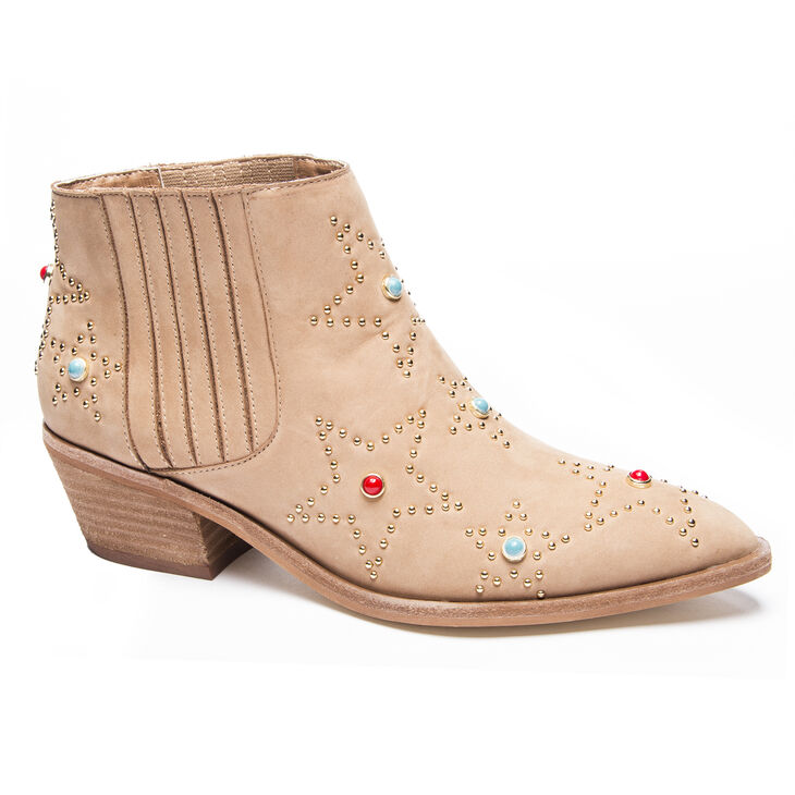 Chinese Laundry Fayme Heeled Booties in Natural