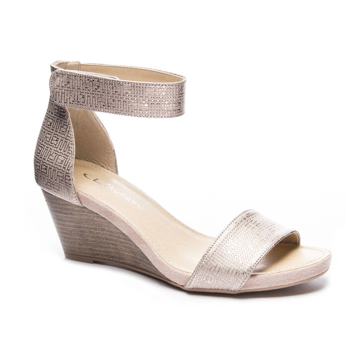 Chinese Laundry Hot Zone Dress Sandals in Rose Gold