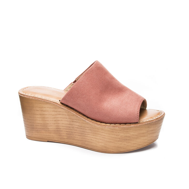 Chinese Laundry Waverly Slide Heels in Clay