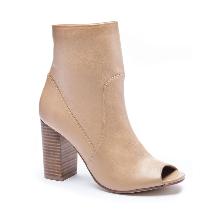Chinese Laundry Talk Show Leather Boots in Camel