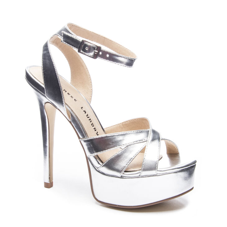 Chinese Laundry Alyssa Sandals in Silver