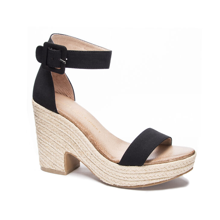 Chinese Laundry Queen Sandals in Black