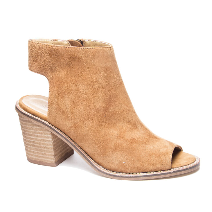 Chinese Laundry Calvin Booties Sandals in Dark Camel