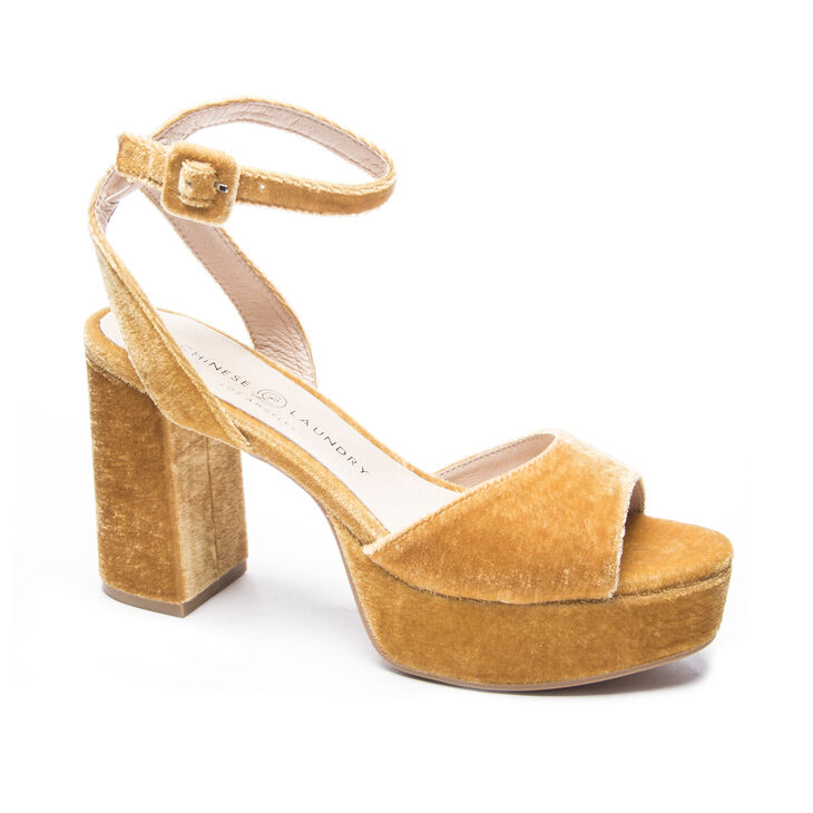 Chinese Laundry Theresa Sandals in Golden Yellow