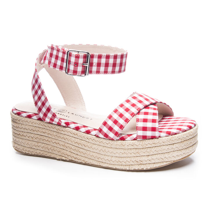 Chinese Laundry Zala Sandals in Red/white