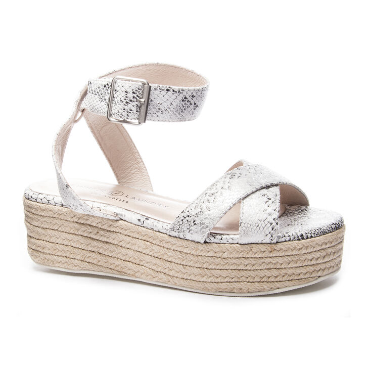Chinese Laundry Zala Sandals in White/silver