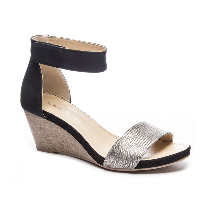 Chinese Laundry Hot Zone Dress Sandals in Pewter/black