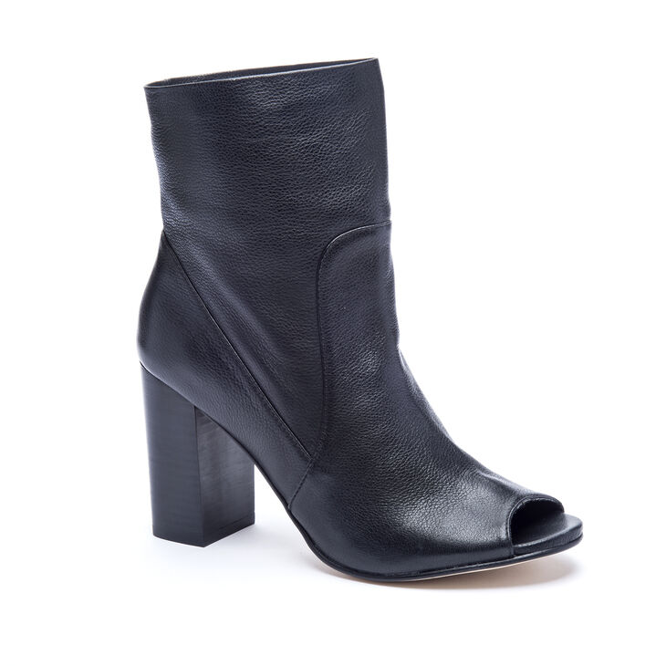 Chinese Laundry Talk Show Leather Boots in Black