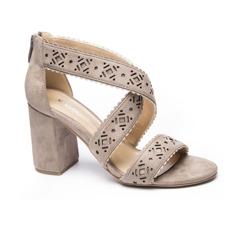 Chinese Laundry Biz Sandals in Warm Taupe