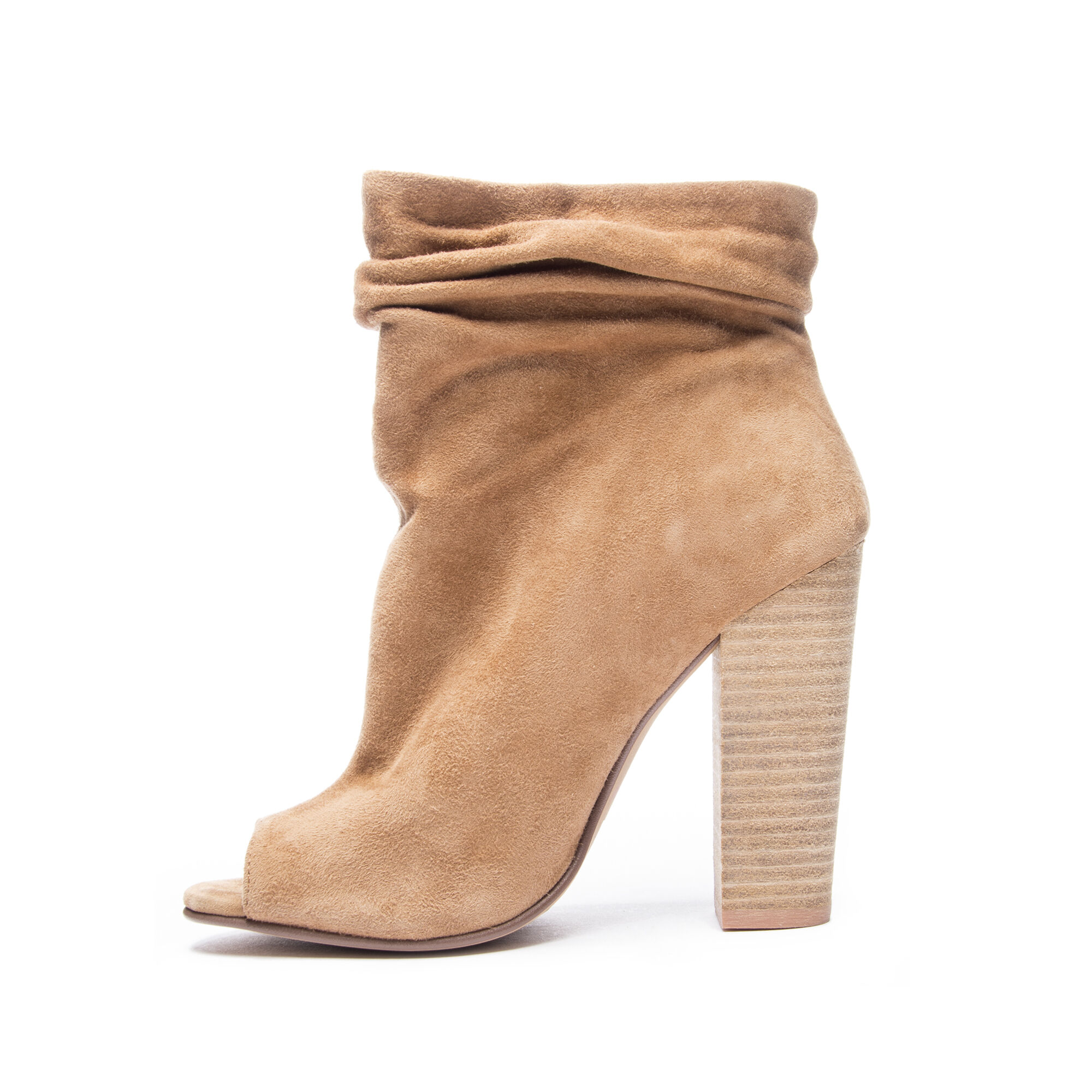 6acd1dbf2aa Laurel -Slouch Peep Toe Suede Ankle Bootie | Chinese Laundry