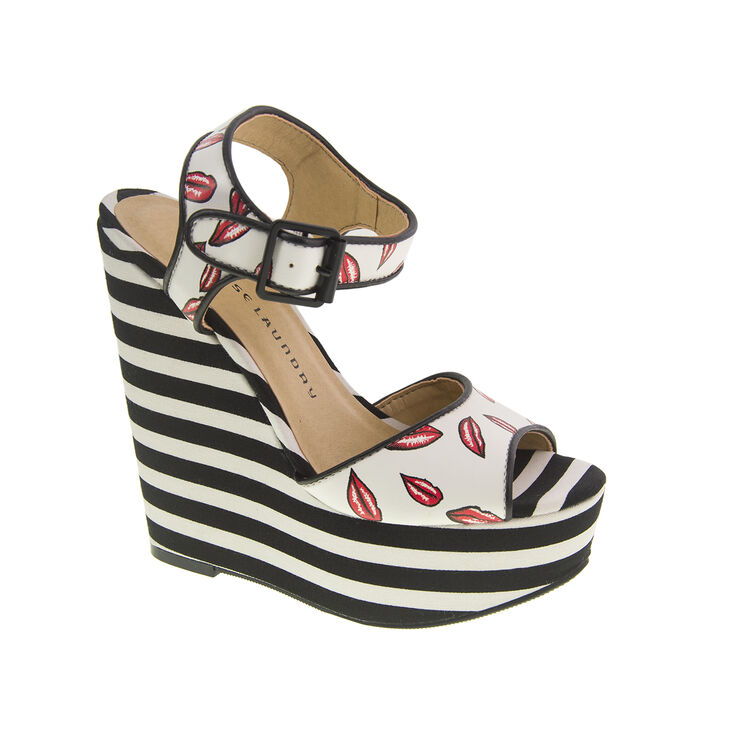 Chinese Laundry Jollypop Wedges in White/red