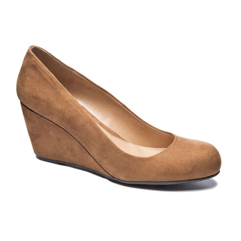 ae39d0eacc54 Nima Super Suede Wedge Pump WHISKEY