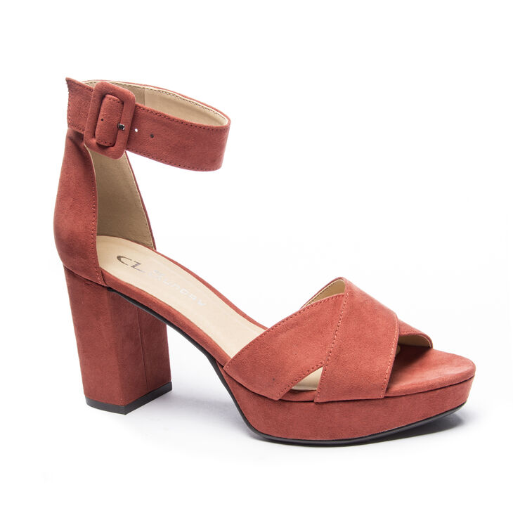 Chinese Laundry Gala Sandals in Rust