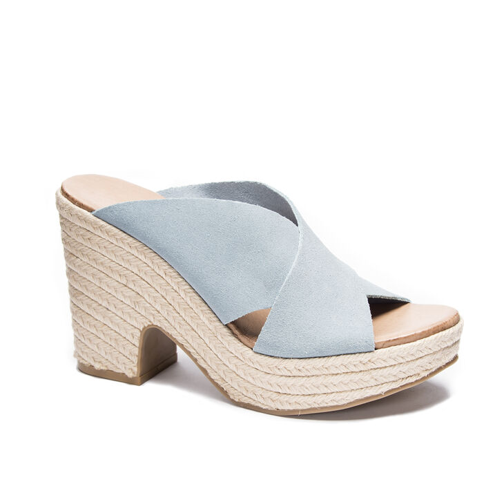 Chinese Laundry Quay Slide Heels in Dustyblue