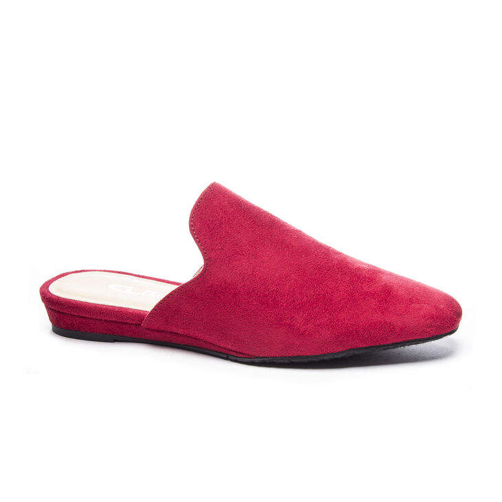 Chinese Laundry Gallery Slide Heels in Ruby Red