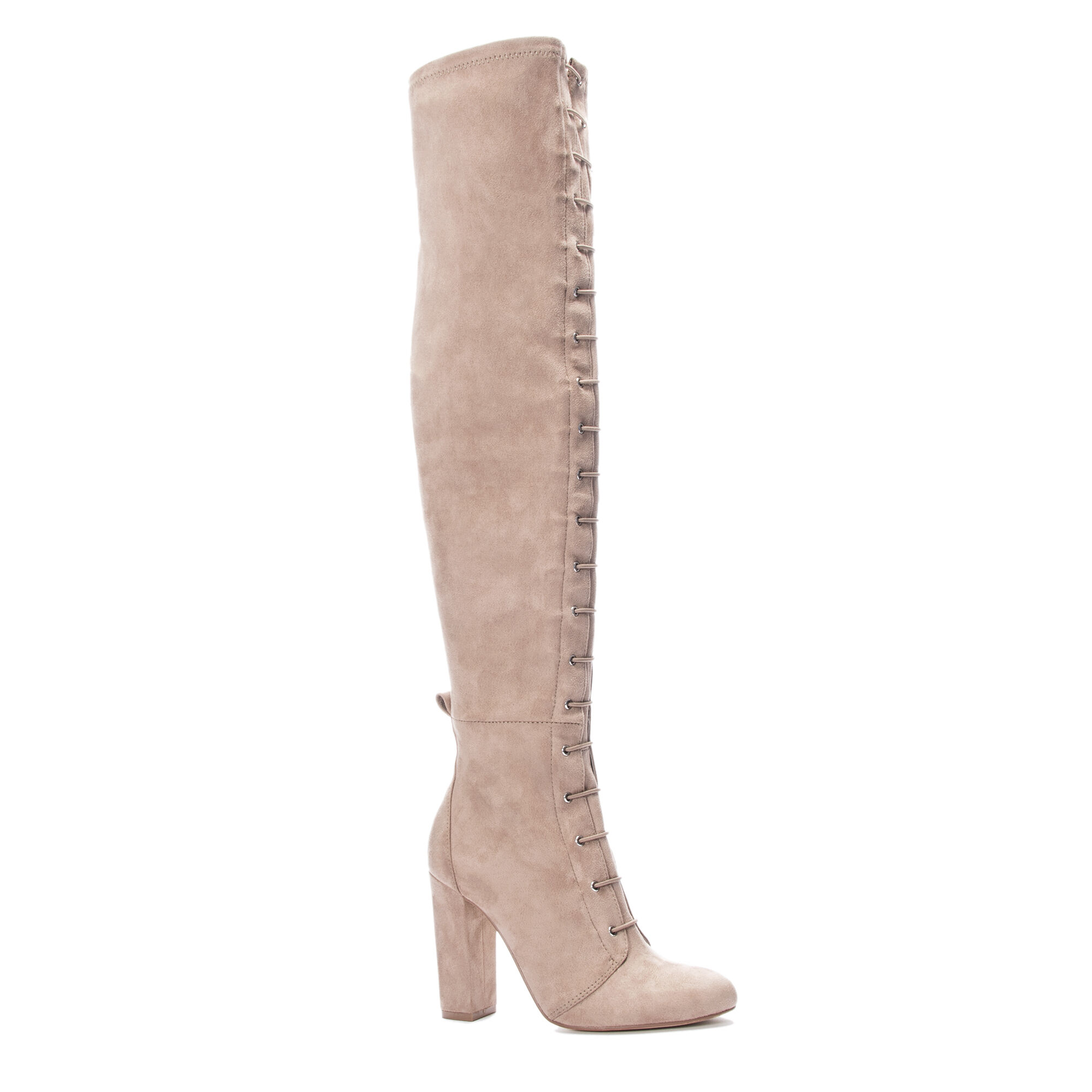 80bc99ac46bf Benita Lace Up Over the Knee Boot Heels