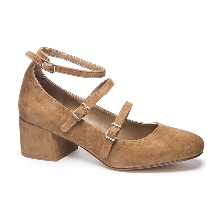Chinese Laundry Moto Block Heels in Camel