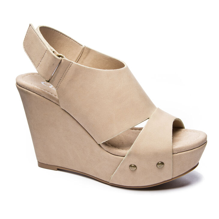 Chinese Laundry Cutey Wedges in Nude