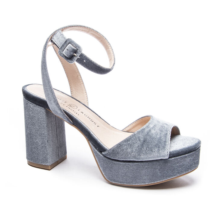 Chinese Laundry Theresa Sandals in Steel Blue