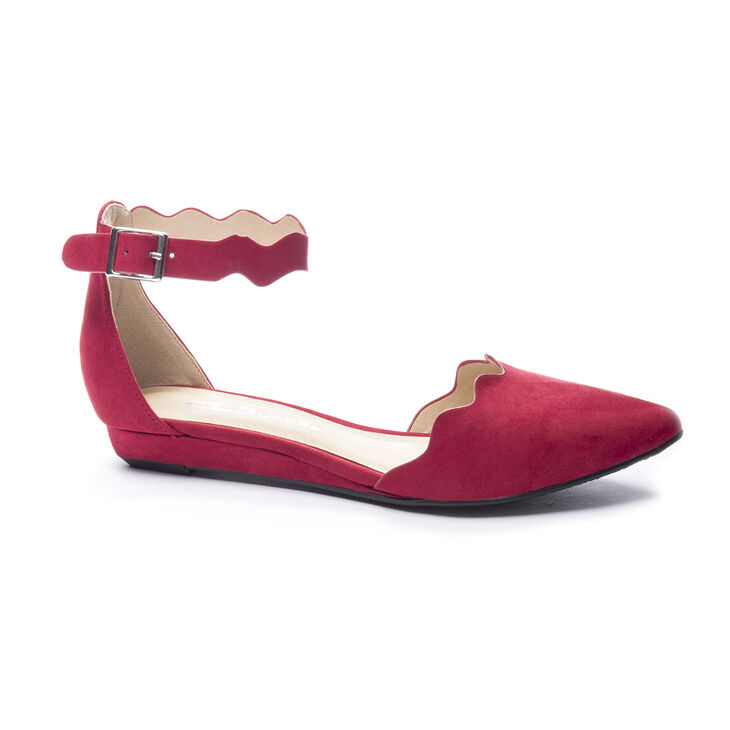 Chinese Laundry Studio Flat Sandals in Chili Red