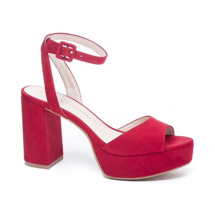 Chinese Laundry Theresa Sandals in Lollipop Red