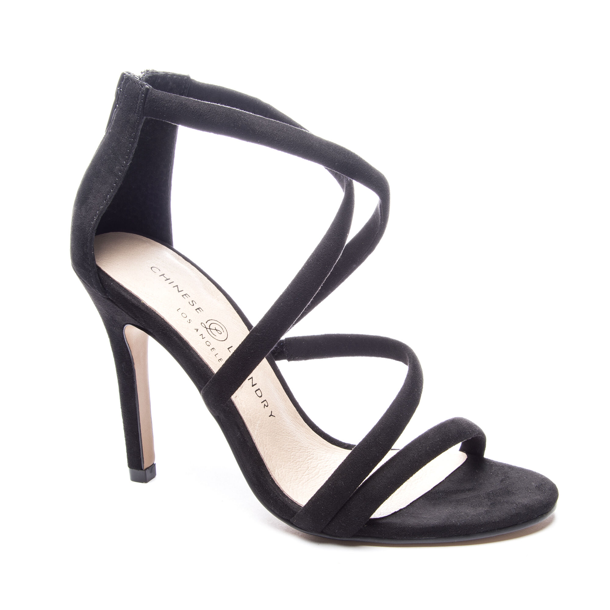 1668d24613 Chinese Laundry Jillian Micro Suede Strappy Heel