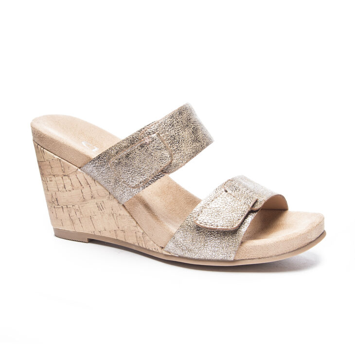 Chinese Laundry Team Player Slide Heels in Mica