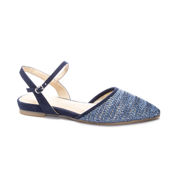 Chinese Laundry Hippie Flats in Denim Blue