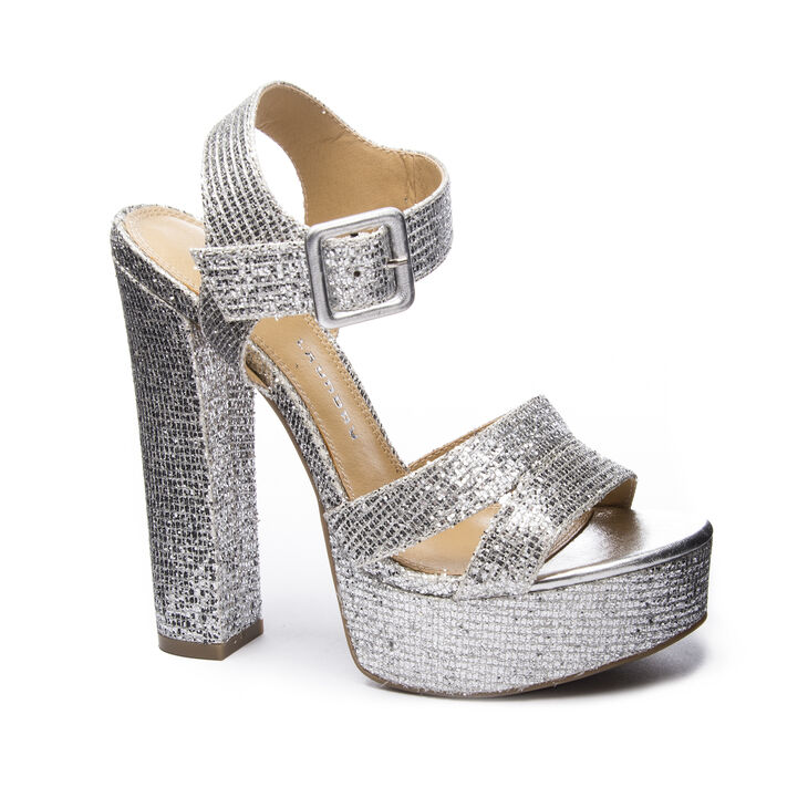 Chinese Laundry Allspice Sandals in Silver Size 10.0
