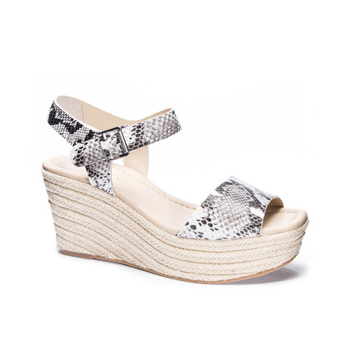 73d7b989ed20 Maine Snake Platform Wedge Sandal CREAM