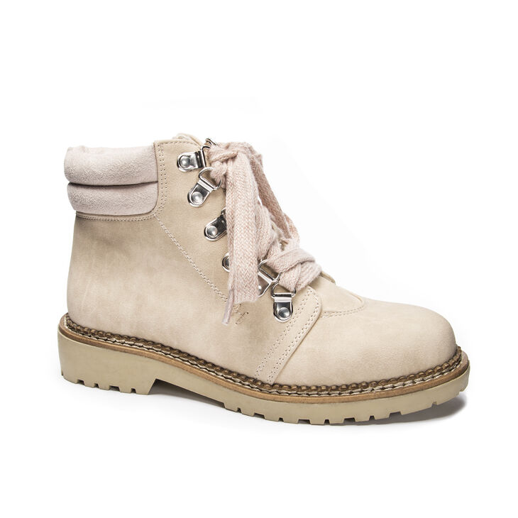 Chinese Laundry Cristal Heeled Booties in Cream