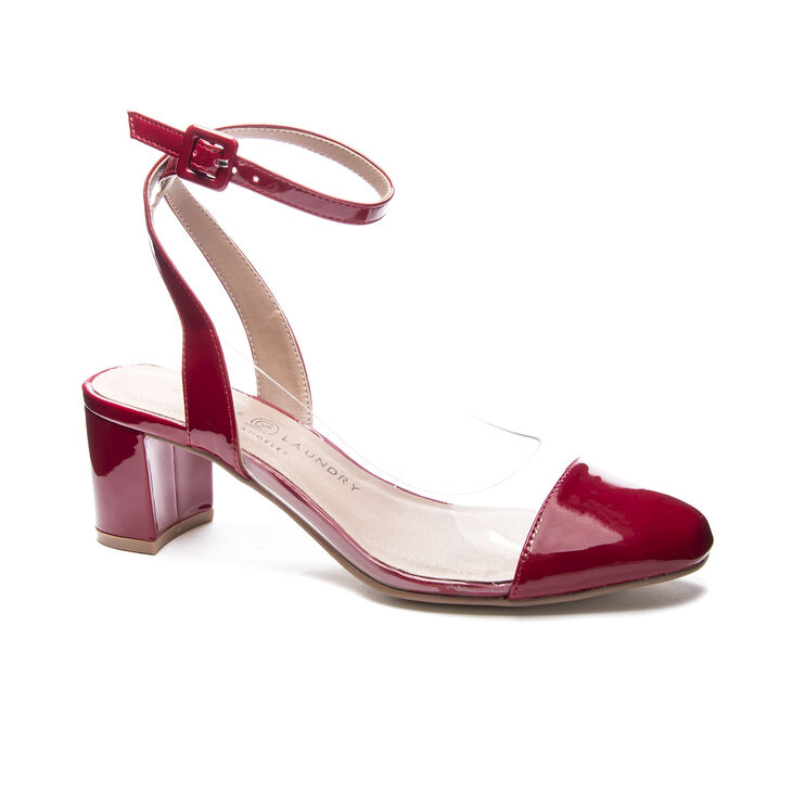 Chinese Laundry Linnie Pumps in Red/clear
