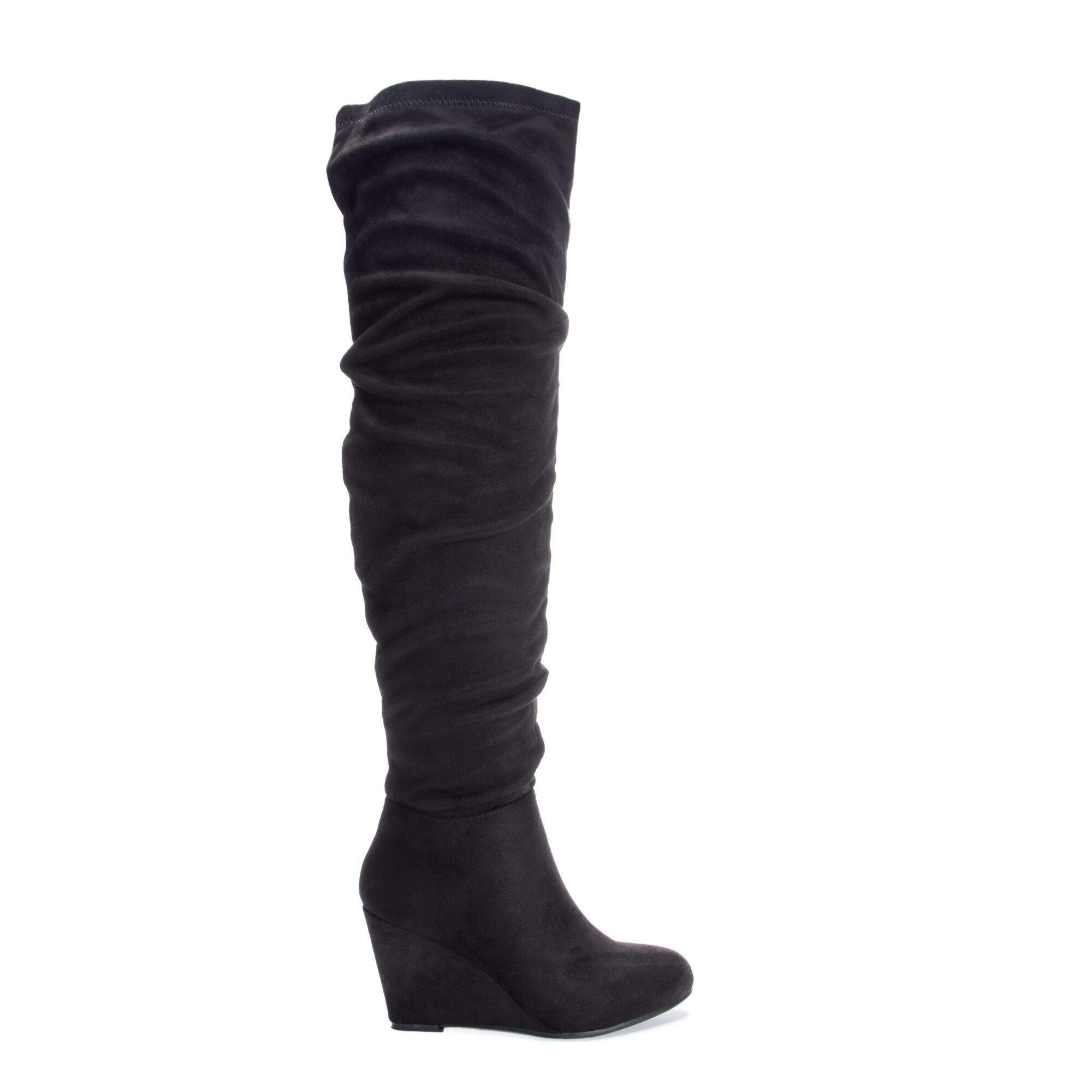c179e0f02b7 Uma Suedette Over the Knee Slouchy Wedge Boots