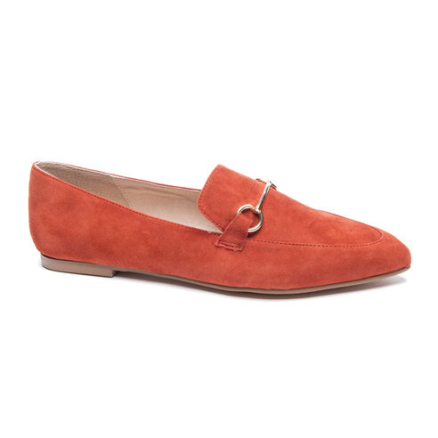 f1ca897c8a2 Cambrie Kid Suede Loafer ORANGE