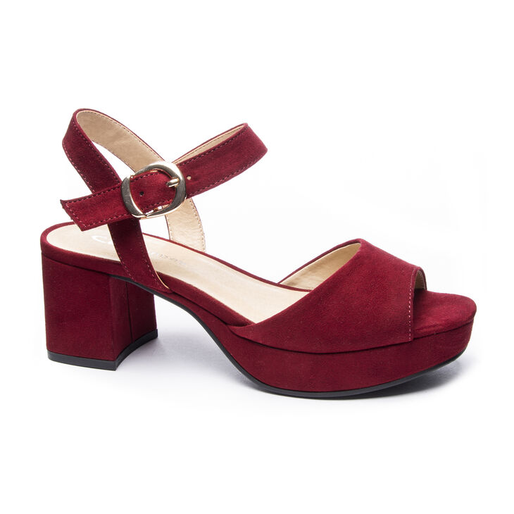 Chinese Laundry Kensie Dress Sandals in Cherry Red