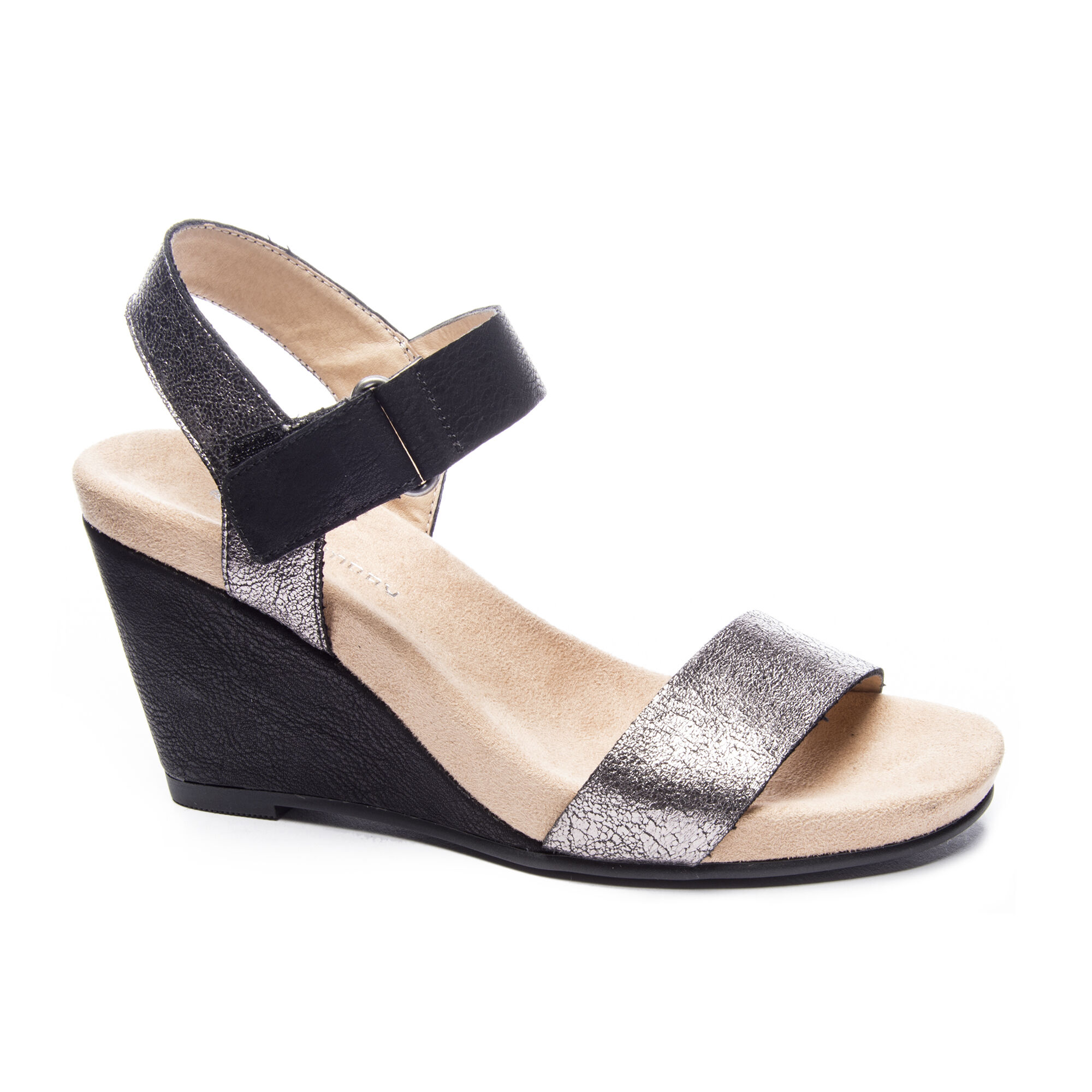 d68b6a1eba6 CL by Laundry Trudy Shimmer-Roc Wedge Sandal