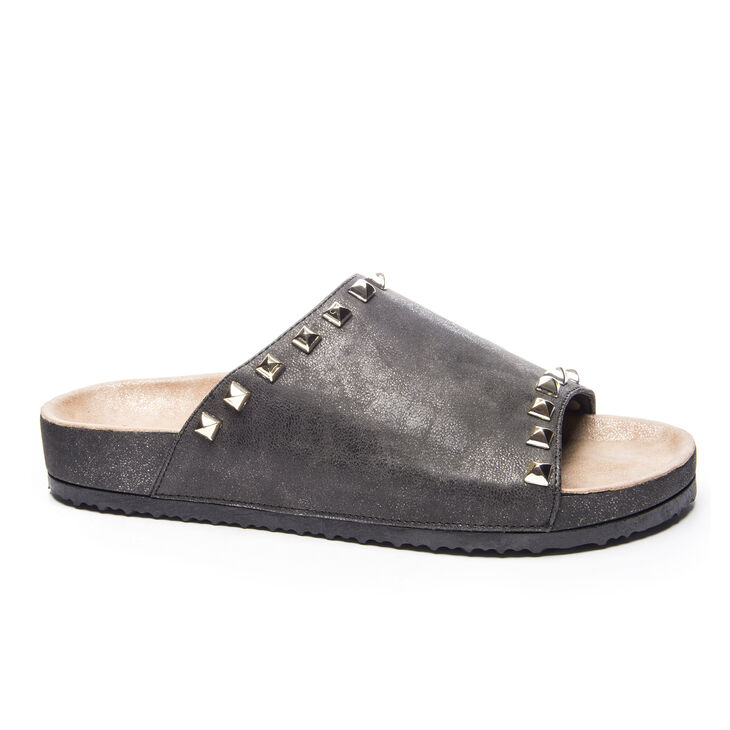 Chinese Laundry Qiana Slide Heels in Charcoal