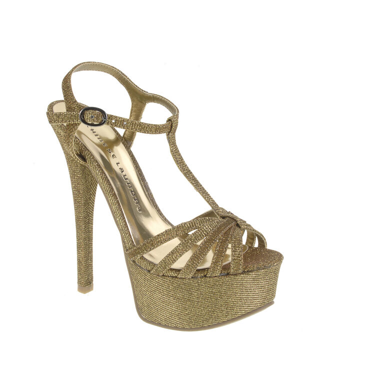 Chinese Laundry Take Care Sandals in Gold Multi