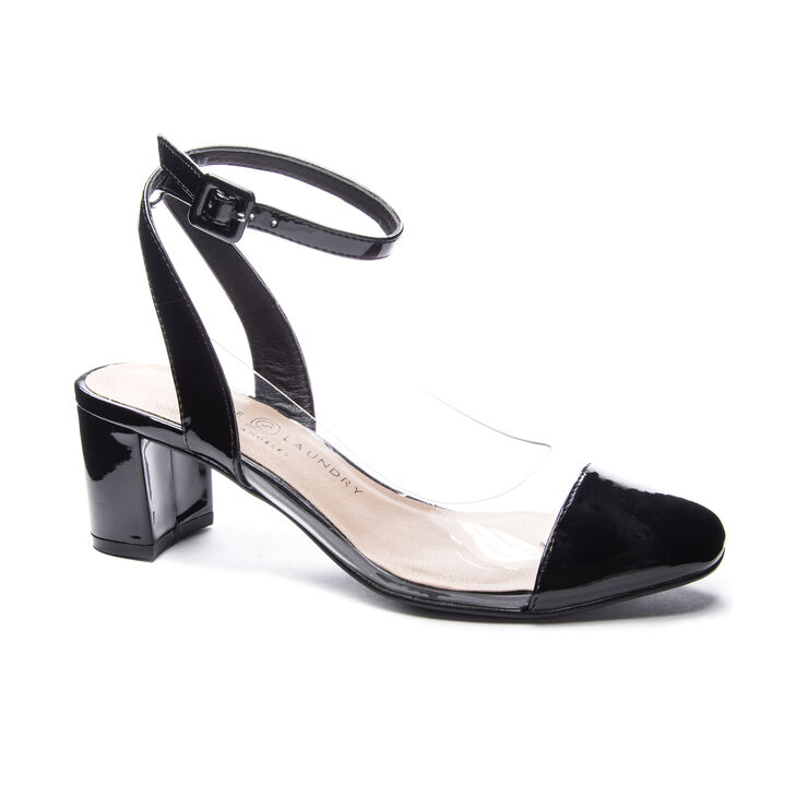 Chinese Laundry Linnie Pumps in Black/clear