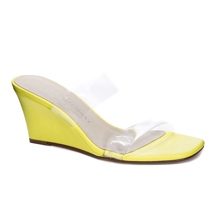 Chinese Laundry Tann Wedges in Neonlime