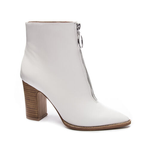 1d93f0b299 Satine Sheep Leat Bootie WHITE