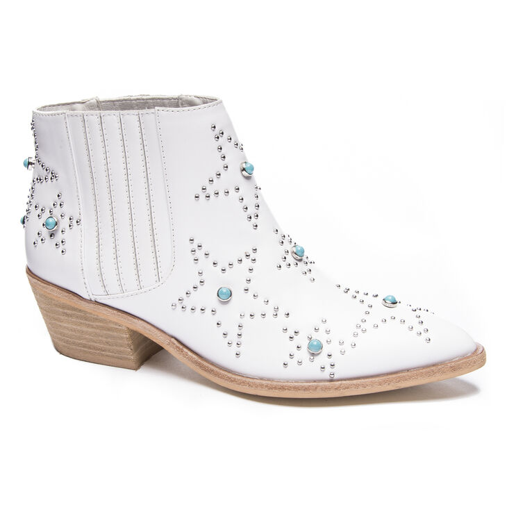 Chinese Laundry Fayme Heeled Booties in White