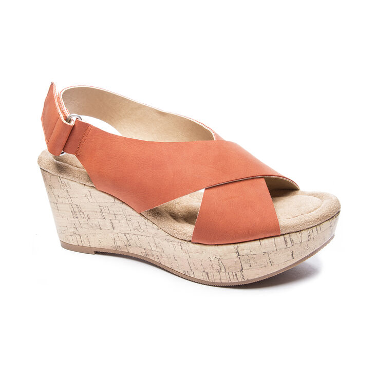 CL by Laundry Dream Girl Sandals in Burnt Orange