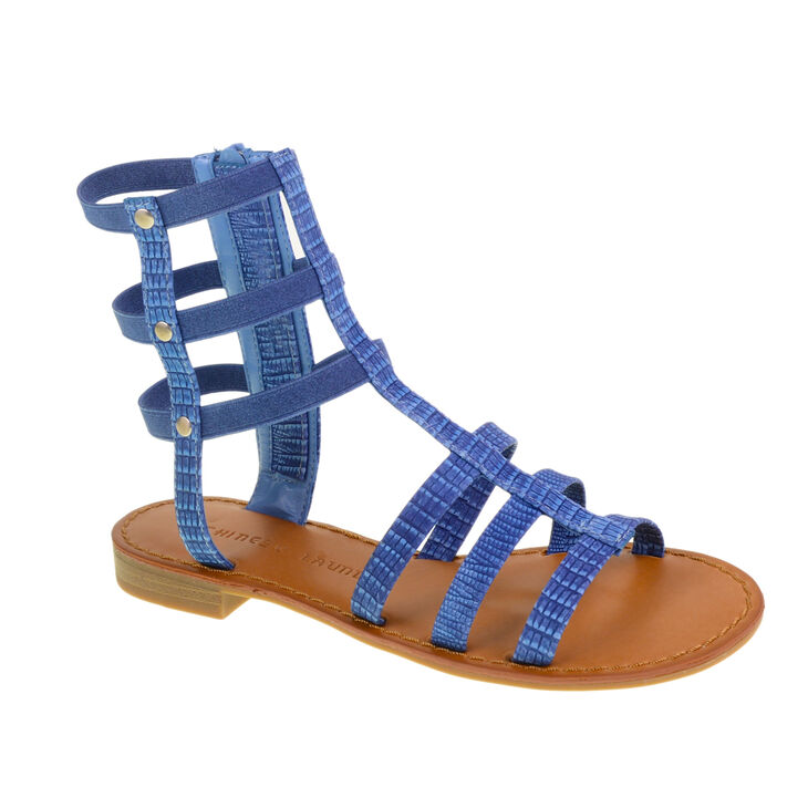 Chinese Laundry Gear Up Gladiator Flats in Denim Blue