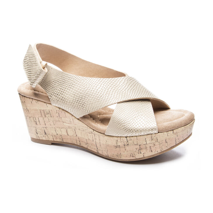 Chinese Laundry Dream Girl Wedges in Gold