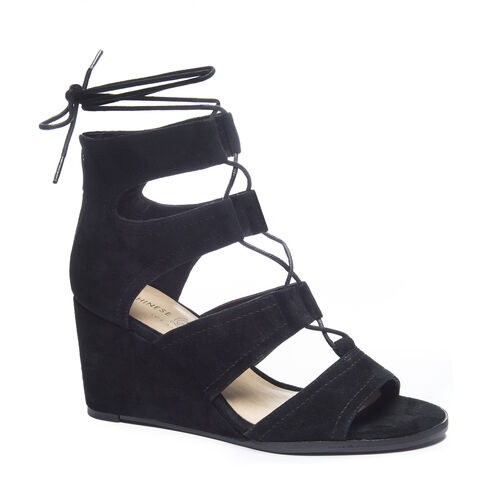 Ankle Strap Wedges,Lace Up Wedge Sandals|Chinese Laundry